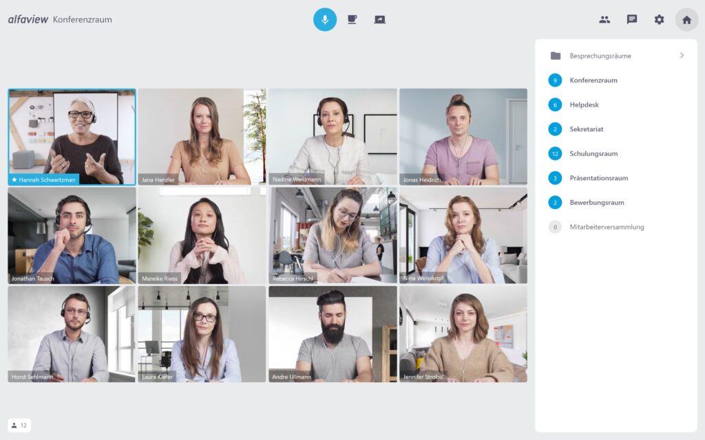 """Symbolbild für Neuigkeit """"alfaview stellt Videokonferenzplattform kostenfrei zur  Verfügung"""""""