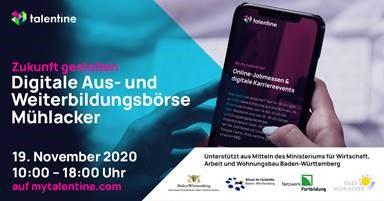 """Symbolbild für Neuigkeit """"Digitale Aus- und Weiterbildungsbörse Mühlacker"""""""